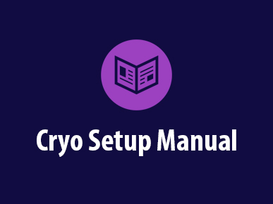 Cryo 6 Setup Manual